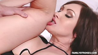 stepmommy yasmin scott fucks stepson to quivering orgasm