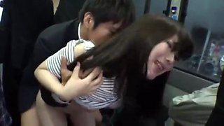 Shy girls get fucked hard in the bus