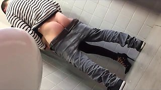 couple caught fucking in the toilet