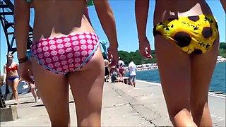 ass ass candid beach bikini booty west michigan 2 hotties