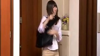 Striking Japanese Maid With A Superb Ass Gets Pounded In Th