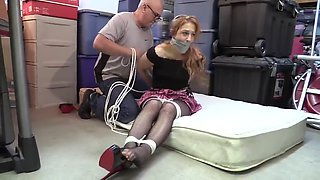 slut wakes up in bondage