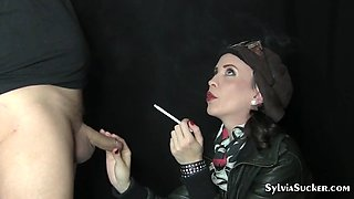 SYLVIA CHRYSTALL YOUNG SMOKING SEXY SLUT EVE 120s BLOWJOB