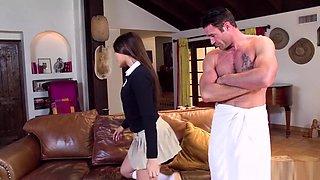 Schoolgirl sells her virgin anus to pay her dad's debt