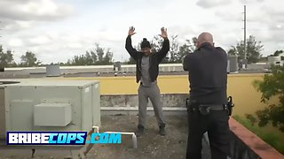 busty milf cops going real hard on an innocent black guy