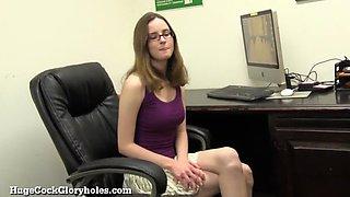 Cute Office Girl Is A Secret Slut!