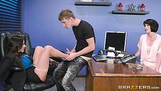 Ariella Ferrera bends over for a lover's massive tool