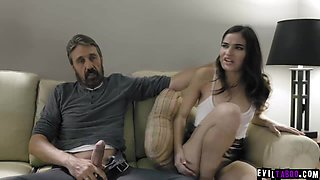 Slutty daughter Emily Willis punished by her Dad!