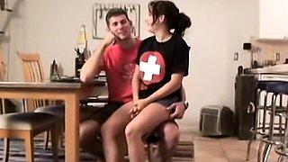 Cute ex babysitter turned girlfriend fucked on video
