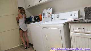 MILF stepmom tribbing with teen in taboo duo