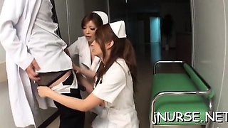Ass oriental nurse severe encounter with a biggest dick