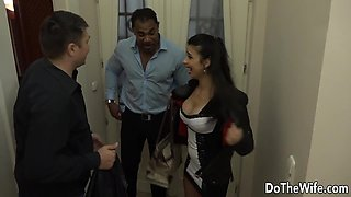 Wife Mira Cuckold loves black cock in her ass