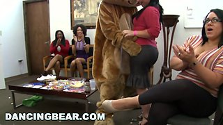 Office Party Turns Wild with Dancing Bear!
