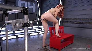 brutal fucking machine makes redhead amarna miller cum non-stop