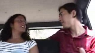 Amateur teen sluts are ready for sex in the car