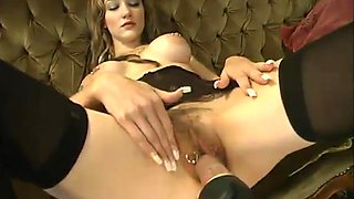 Michelle Monroe gets her sweet pussy pounded by a fucking machine