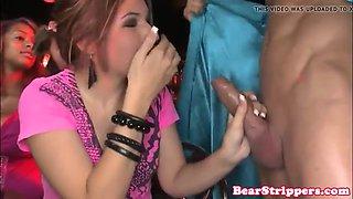 my slutty girlfriend semen on the face on stage