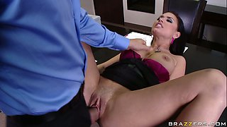 Eva Angelina gets her pussy fondled and fucked