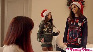 Stepbro's Christmas Threesome And sister Creampie S5:E6