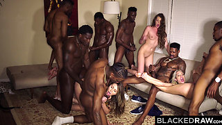 BLACKEDRAW Four College Girls In INSANE BBC Gangbang