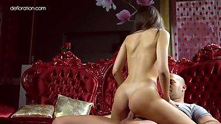 sensational virginity losing porn of ukrainian babe abril gerald