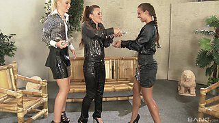 Stunning Tiffany Doll and her friends get to satisfy each other