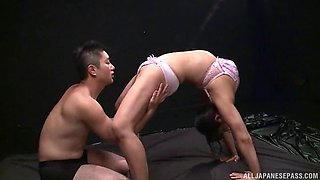 Wild and oily humping for the busty sex goddess Nozomi Mikimoto
