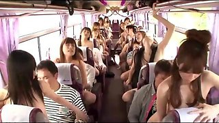 Wild Japanese Public Sex Bus