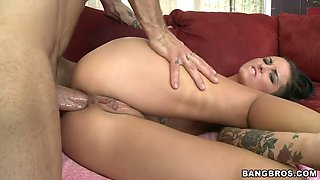hot amateur girl christy mack takes thick shaft in her virgin ass for the first time