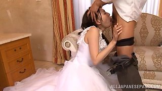 Japanese Bride Gets Her First Taste Of Cock