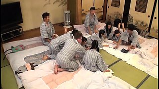 Horny Japanese swingers get together for a wild experience