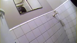 Japanese girls taking a pee in voyeur Japanese toilet video