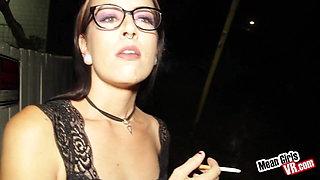 Grunge Bunny Smoking and flashing
