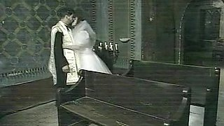 Priest Jean-Yves fucks bride Vivien: scene from Il confessionale