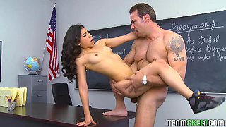 After Class Sex With The Naughty Teen Latina Nicole Ferrera