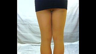 crossdresser pantyhose in black 060
