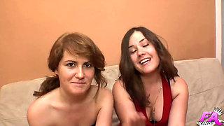 Pili & Estela share a cock