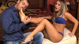 Exotic pornstar Aleska Diamond in best piercing, foot fetish porn scene
