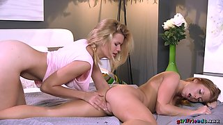 Amazing pornstars Izzy Delphine, Chrissy Fox in Incredible Lesbian, Redhead adult clip