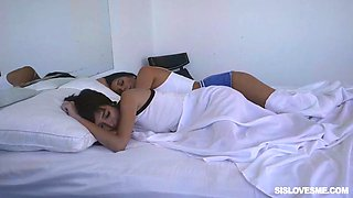 eden aria and olivia lua seduce each other for a fuck