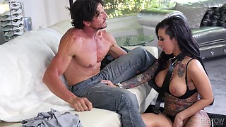 Leggy babe Lily Lane gets to ride an experienced fellow's boner