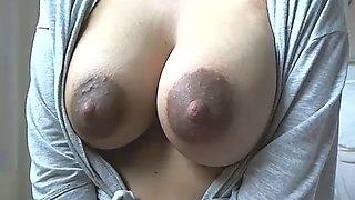 Sexy milf big tits with milk
