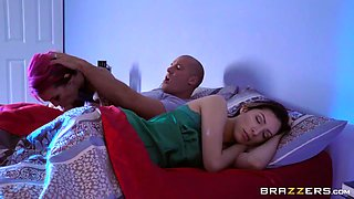 tattooed seductress anna bell peaks deepthroats sean's rod while his wife is sleeping